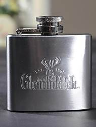 Personalized Gift 2oz Metal Capital Letters Flask