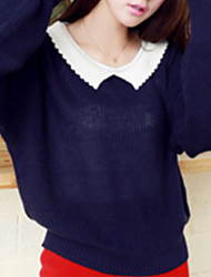 Folli Korean Doll Collar Bat Sleeve Knit Shirt