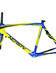 700C Full Carbon Blue+Yellow Road Bicycle with Front Fork
