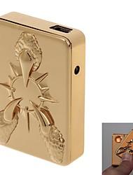 Shayu USB recarregável Windproof Cigarette liga de zinco eletrônico Lighter