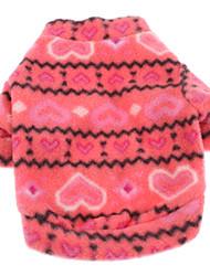 Chien Sweatshirt Rouge Rose Vêtements pour Chien Hiver Printemps/Automne Cœur Décontracté / Quotidien Garder au chaud