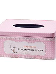 Mots Bonheur Temps Tissue Box