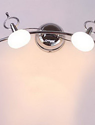 Bathroom Wall Lamp, 2 Luz, Moderno Acero inoxidable Blanco Chrome