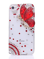 WWX Women's Red Butterfly Cell phone Case For Iphone4/4S WWX0023