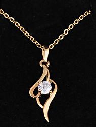 De Bin BIN Mulheres ouro 18k zircão pingente incl. Cadeia (D0155)