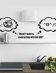 Sorgen Sie sich nicht Cartoon Wandsticker