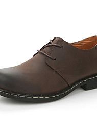 Classic Solid Couleur cuir véritable Chaussures JPW hommes (Brown)
