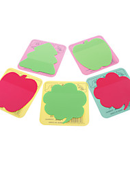 Apple Shaped Fluorescence Self-Stick Note (Random Color)