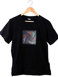 Type de rotation sonore de musique Activé lumineux LED Equalizer T-shirt à manches courtes
