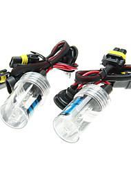 2Pcs Car 9006 HID Xenon Lights Bulbs Lamps AC/DC 12V55W(4300-12000K Optional)