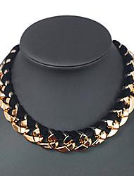 shixin® старинных золотое ожерелье акрил колье (золотой) (1 шт)