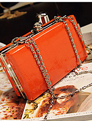 Sufan Fashion Süßigkeit-Farben Crocodile Textur Clutch-Bag (Orange)