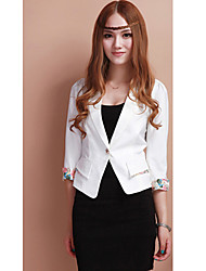 Miss well Big Size Short Slimming Blazer(White)