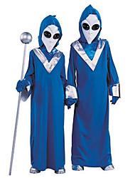 Extranjero lindo traje de poliéster azul Niños