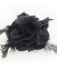 Feather and Fabric Facinators Wedding Headpieces