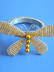Butterly Wedding Napkin Ring Set Of 12, Glass Beads Dia 4.5cm