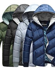 Men's Ski Down Jackets Wearable / Windproof / Thermal / Warm Gray / Black / Blue / Dark Green Leisure Sports / SnowsportsM / L / XL / XXL
