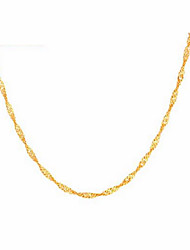 Laifu Women's 40Cm 925 Silver Gold Necklace  1.2g