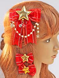 Red Bow et Golden Stars Coiffe de Noël