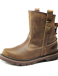 Men's Shoes Casual/Outdoor Leather Boots Brown