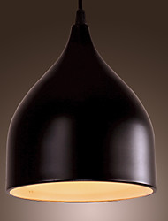 SL® Creative Contemporary 1 Light Pendant with Black Shade