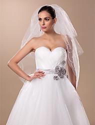 Three-tier Elbow Wedding Veil(More Colors)