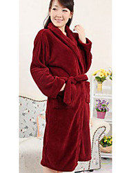 Bademantel, High-Class-Frau Wine Red Collar Dekorative Bekleidungs verdicken