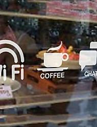 Cafés Clássico Marcação Ícones etiquetas da janela