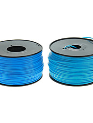 Reprapper 3D Printer Consumables Fluorescent Blue Color (Optional Wire Diameter and Material) 1 Piece