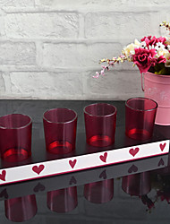 "11""H Modern Style Glass Votive Candle Holder"