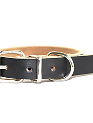Adjustable PU Leather Pure Style Collar for Pets Dogs/Cats(Assoted Colors,Sizes)