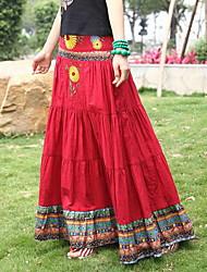 bohemia plisada faldas largas patrones de bordado del vestido (patrón de textura entrega al azar)