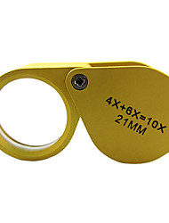 Magnifiers/Magnifier Glasses 4x+6x Normal Metal