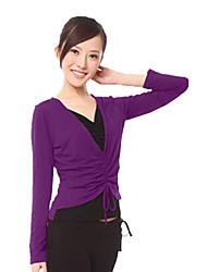 Dancewear Modal V-Ausschnitt, Zweiteiler wie Yoga Top für Damen (weitere Farben)