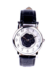 TIME CIRCLE Women's Black Classic Elegant Blooming Rose