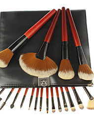 18 Makeup Brushes Set Synthetic Hair Lip / Eye / Face