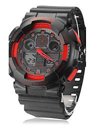 Unisex Multifuncional analógico-digital de la goma del reloj de pulsera (colores surtidos)