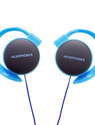 3.5mm bleu sportif ensoleillées casque tour d'oreille stéréo w / ligne mince pour l'iphone 6 iphone 6 plus