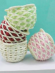 Estilo chino Basket colores aleatorios Almacenamiento Para Flor