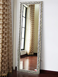 "59""Retro Style Silver Rectangle Floor Mirror"