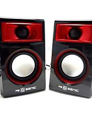 SENIC SN-419 Portable Mini haut-parleur de Fashional pour les ordinateurs portables / PC (1 paire)