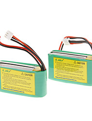 EK1-0181 7.4V 800mAh Li-Polymer Battery (2pcs, Green))