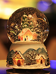 Snowing Ball City of Sky Crystal Music Box