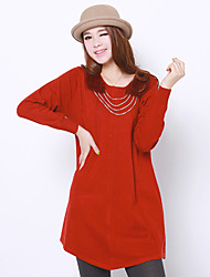 Folli Long A Line Wool Dress With Necklace