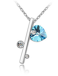 Xingzi Women'S Key Shape Crystal 40Cm Necklace 2312