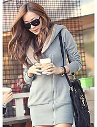 Women's Coats & Jackets , Cotton Blend Casual/Work ER