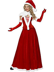 5 Peças de Santa Rainha Red Velvet Costume de Natal