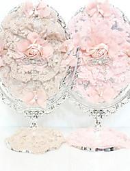 """12 """"Belle fleur de style romantique ovale de table Miroir"""