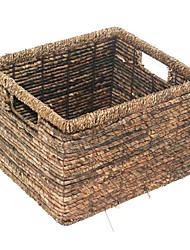 Vintage Brown Bambù rattan Basket archiviazione