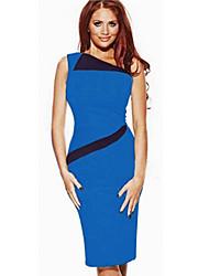 Женская мода Косой плечо платье